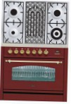 ILVE PN-90B-MP Red Kitchen Stove