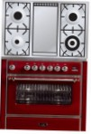 ILVE M-90FD-MP Red Kitchen Stove