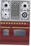 ILVE PDN-90B-MP Red Kitchen Stove