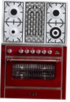 ILVE M-90BD-MP Red Kitchen Stove