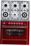 ILVE M-906D-MP Red Kitchen Stove