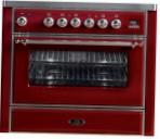 ILVE M-90-MP Red Kitchen Stove