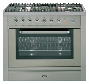 ILVE T-90FL-VG Stainless-Steel Kitchen Stove Photo