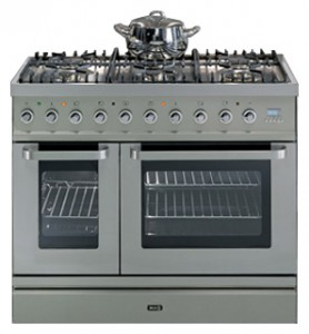 ILVE TD-90FL-VG Stainless-Steel Kitchen Stove Photo